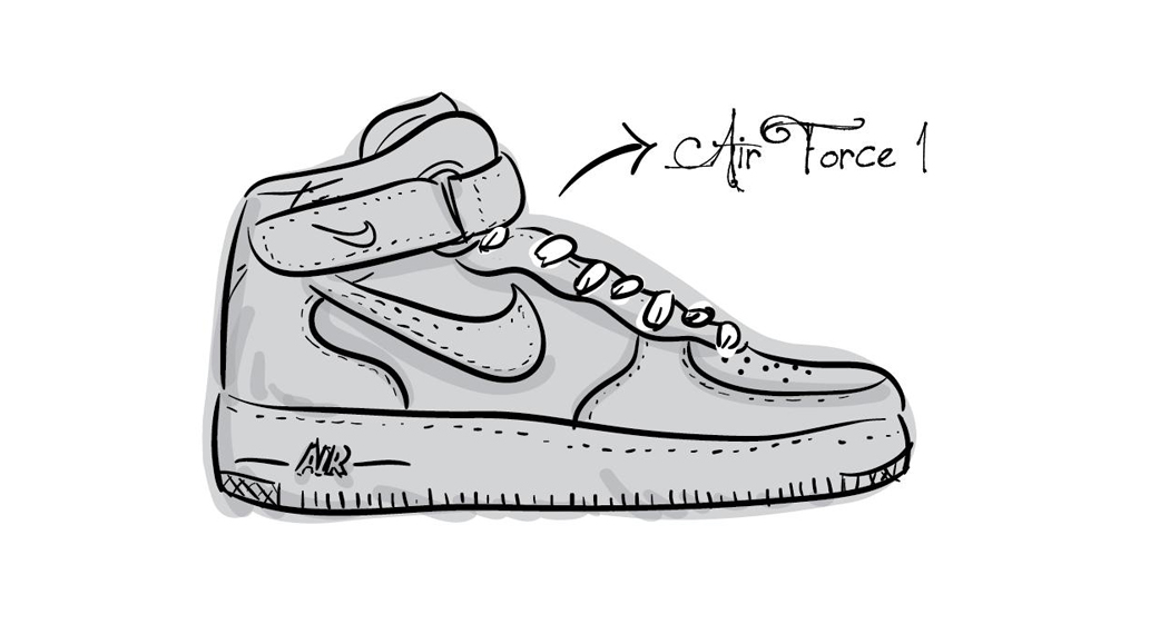 A Is For Air Force 1 Not Apple 英文字母球鞋插畫 Keedan Com
