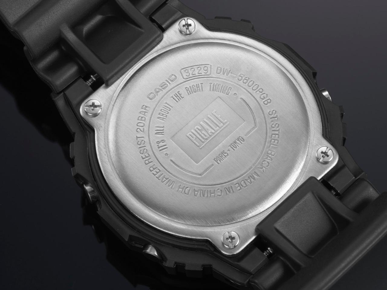 DW-5600PGB- 1錶背刻印上由PIGALLE LOGO所設計_____ __