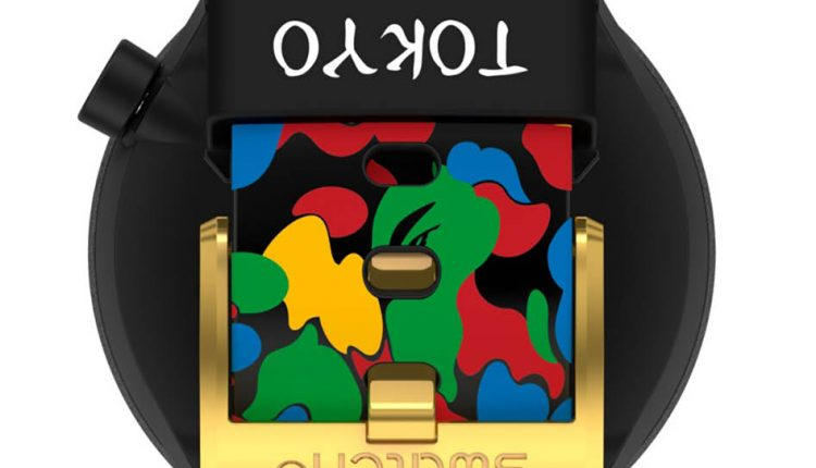 SWATCH X BAPE TOKYO BLACK MULTI CAMO【東京原創彩虹迷彩黑金版】售價 NT$4,750 型號SO27Z708_7