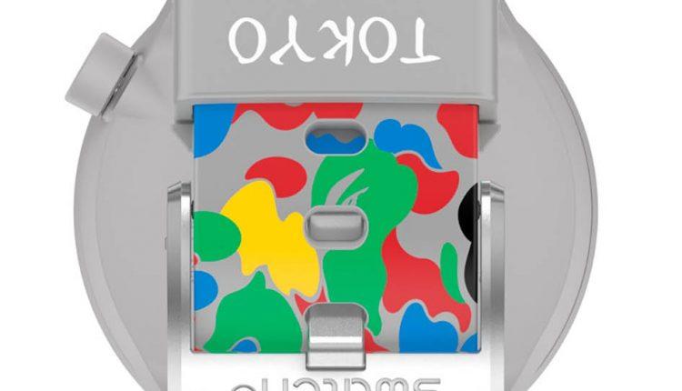 SWATCH X BAPE TOKYO GRAY MULTI CAMO【東京原創彩虹迷彩白金版】售價 NT$4,750 型號SO27Z709_7