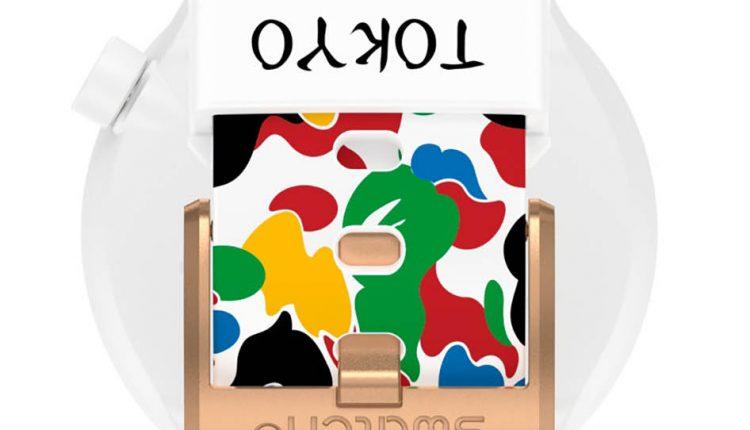 SWATCH X BAPE TOKYO WHITE MULTI CAMO【東京原創彩虹迷彩玫瑰金】售價 NT$4,750 型號SO27Z710_9